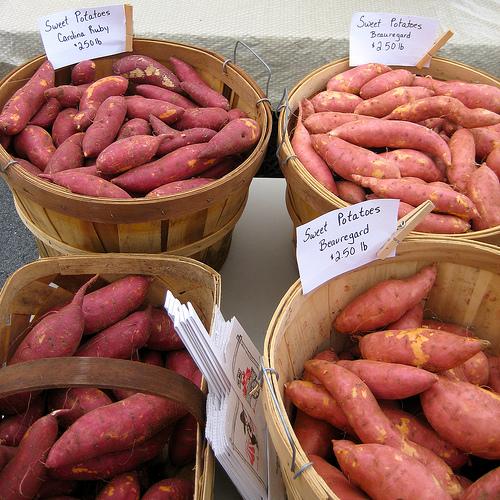Sweet Potatoes in Baskets