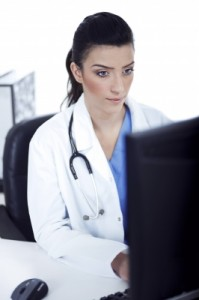 Doctor on Computer ID-10035343