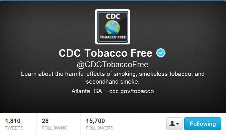 Twitter Chat The Great American Smokeout CDC Tobacco Free for Healthin30 Post
