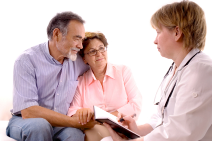 Clinician and Patient with Family Member iStock_000006453996XSmall