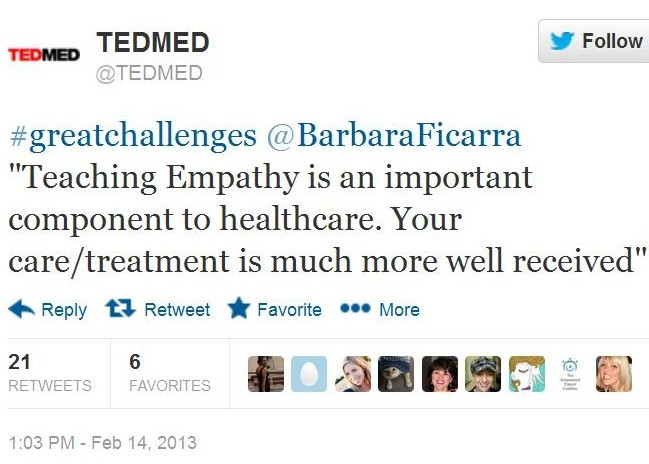 TEDMED Quote Screen Shot Barbara Ficarra