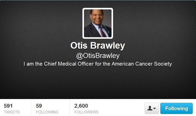 Twitter Chat The Great American Smokeout Otis Brawley for Healthin30 Post