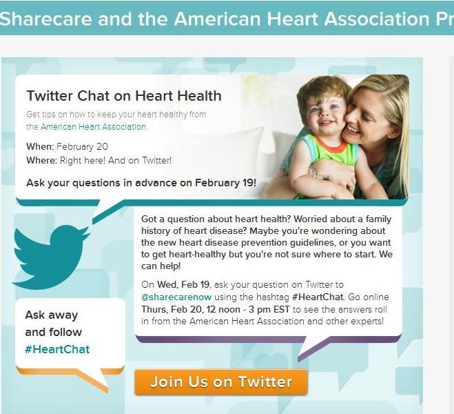 Twitter Chat Sharecare American Heart Healthin30 Barbara Ficarra