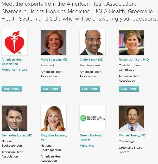 Twitter Chat Sharecare and American Heart Experts 1 Healthin30 Barbara Ficarra